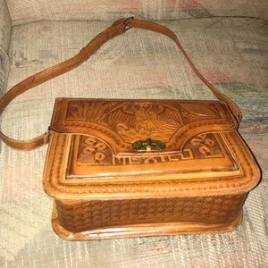 Vintage Mexican Leather Purse